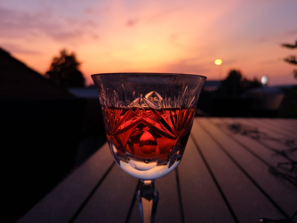 Weinabend auf der Terrasse